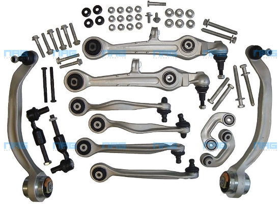 kit triangles bras de suspension rotules audi a4 b5 8d a6 c5 vw passat 3b 3bg