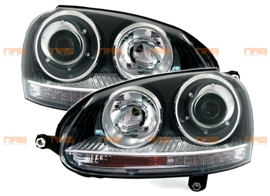 phares feux avant optiques noirs x non d2s h7 vw volkswagen golf 5 v gti gtd r32 ebay. Black Bedroom Furniture Sets. Home Design Ideas